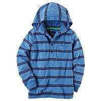 Boys 4-8 Carter's Hooded Henley Striped Top