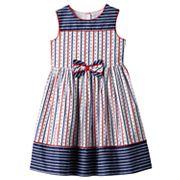 Girls 4-6x Marmellata Classics Americana Red, White & Navy Striped Dress