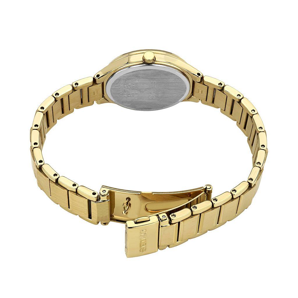 Seiko Women's Diamond Stainless Steel Solar Watch - SUT320