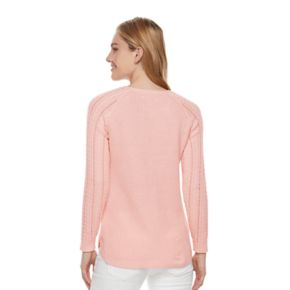 Women's SONOMA Goods for Life? Pointelle Crewneck Sweater