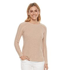 Women's SONOMA Goods for Life™ Pointelle Crewneck Sweater