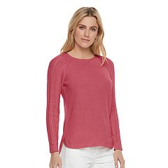 Women's SONOMA Goods for Life™ Pointelle Crewneck Sweater