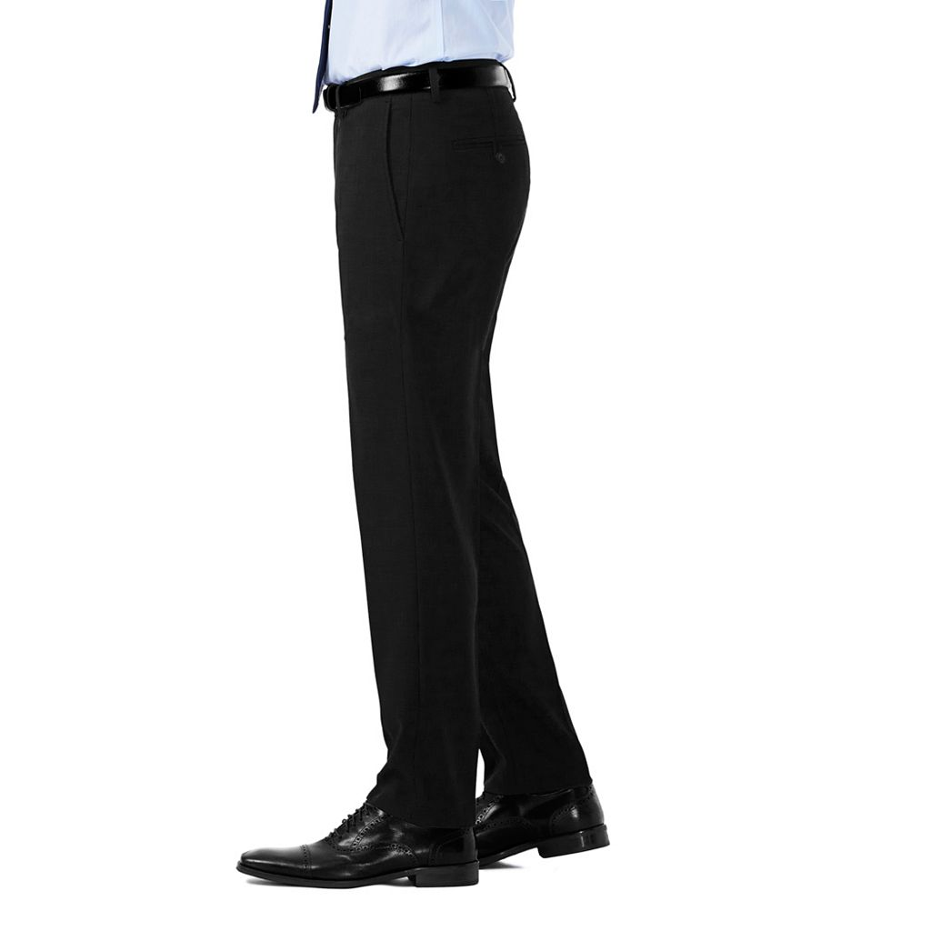 Men's Haggar Slim-Fit Stretch Melange Gabardine Flat-Front Suit Pants
