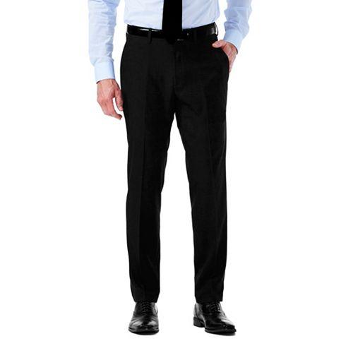 Men's Haggar Slim-Fit Stretch Melange Gabardine Flat-Front Suit Pants