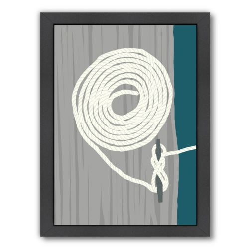 "Americanflat ""Coil and Cleat 1"" Framed Wall Art"