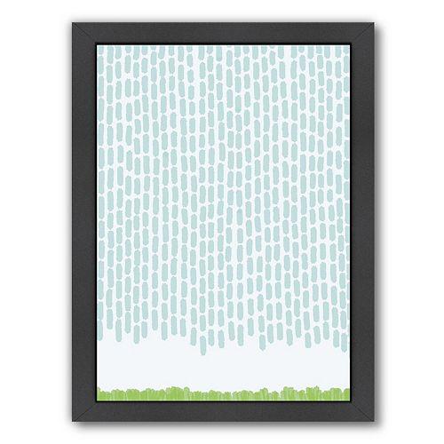 "Americanflat ""Rain Dashes"" Framed Wall Art"