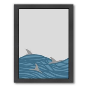 """Americanflat """"Dolphins"""" Framed Wall Art"""