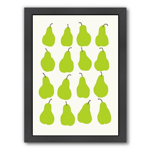 "Americanflat ""Pears"" Framed Wall Art"