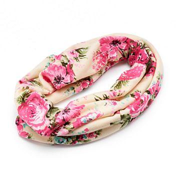 Mudd® Pink Floral Tubular Head Wrap