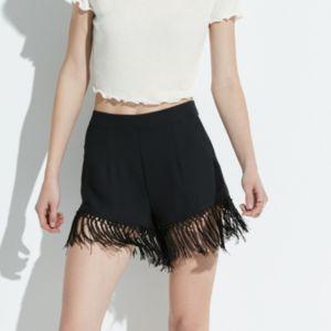 k/lab Fringed Shortie Shorts