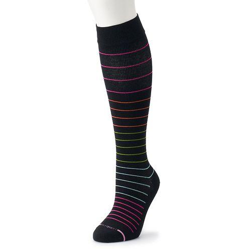 a5d62c4db Women s Dr. Motion Striped Knee-High Compression Socks