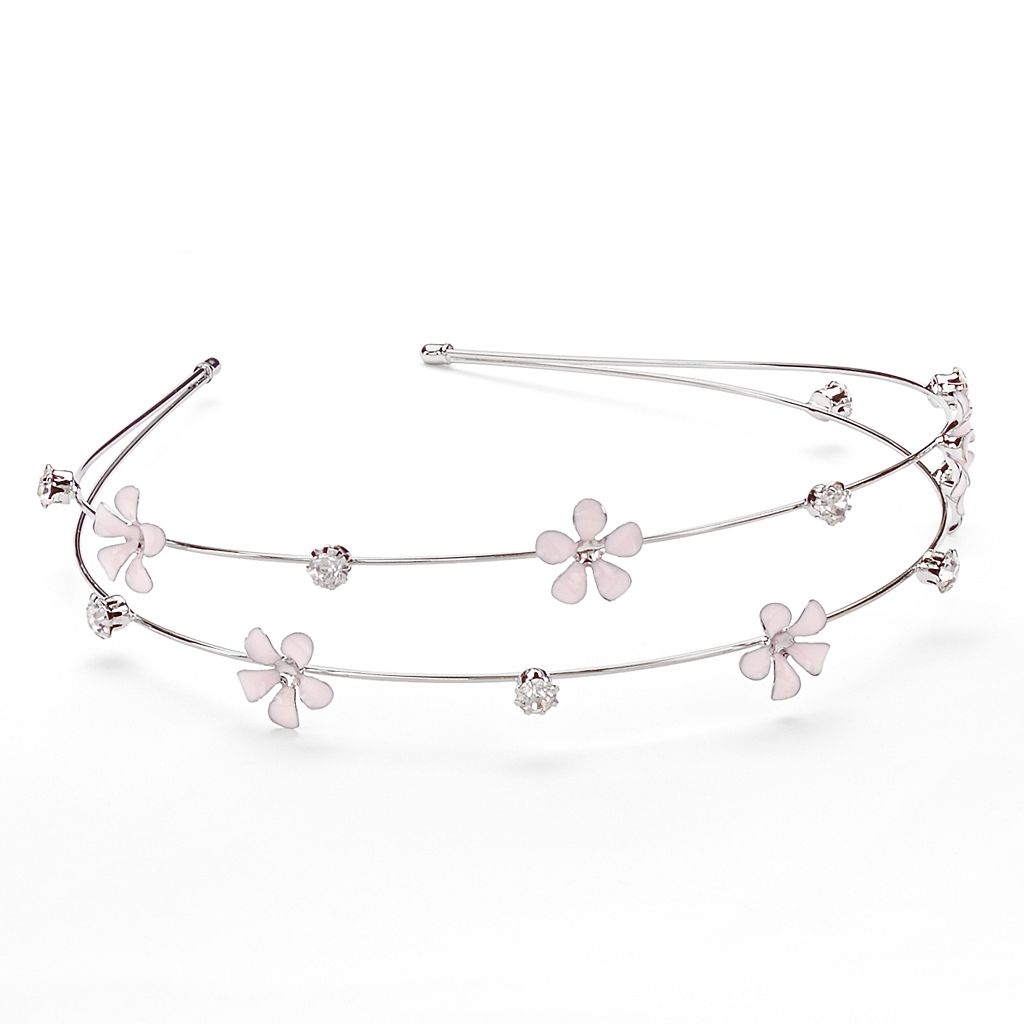Mudd® Flower Double Row Headband