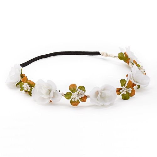 Mudd® White Flower Elastic Headband