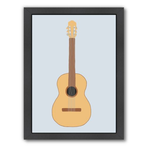 Americanflat Guitar Framed Wall Art