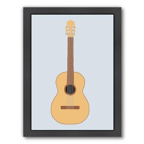 """Americanflat """"Guitar"""" Framed Wall Art"""