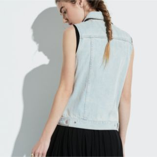 k/lab Distressed Denim Vest