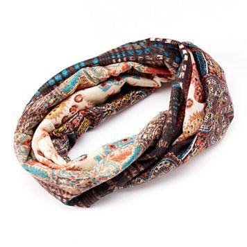 Mudd® Abstract Jersey Head Wrap