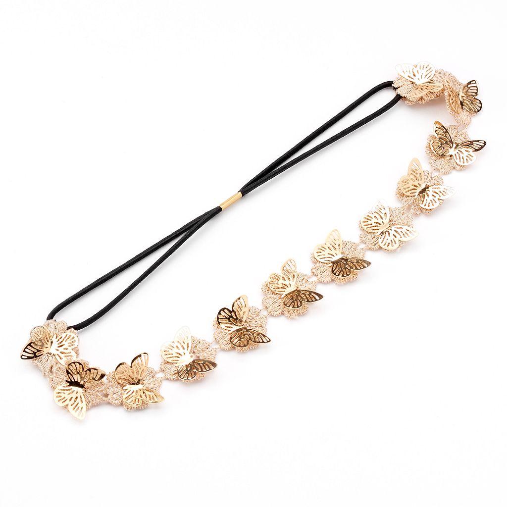 Mudd® Butterfly & Flower Elastic Headband