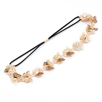 Mudd® Butterfly & Flower Elastic Headband