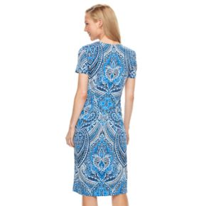 Women's Suite 7 Scroll Midi Sheath Dress