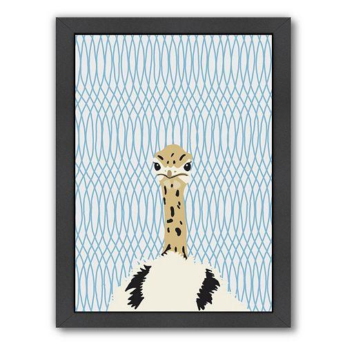 """Americanflat """"Ostrich"""" Framed Wall Art"""
