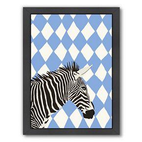 "Americanflat ""Zebra"" Framed Wall Art"