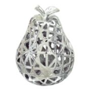 Silver Finish Pear Table Decor