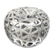 Silver Finish Apple Table Decor