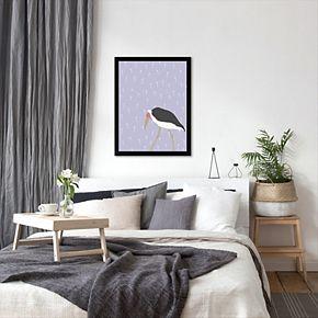 """Americanflat """"Stork"""" Framed Wall Art"""