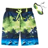 Boys 4-7 ZeroXposur Shark Island Swim Trunks with Goggles