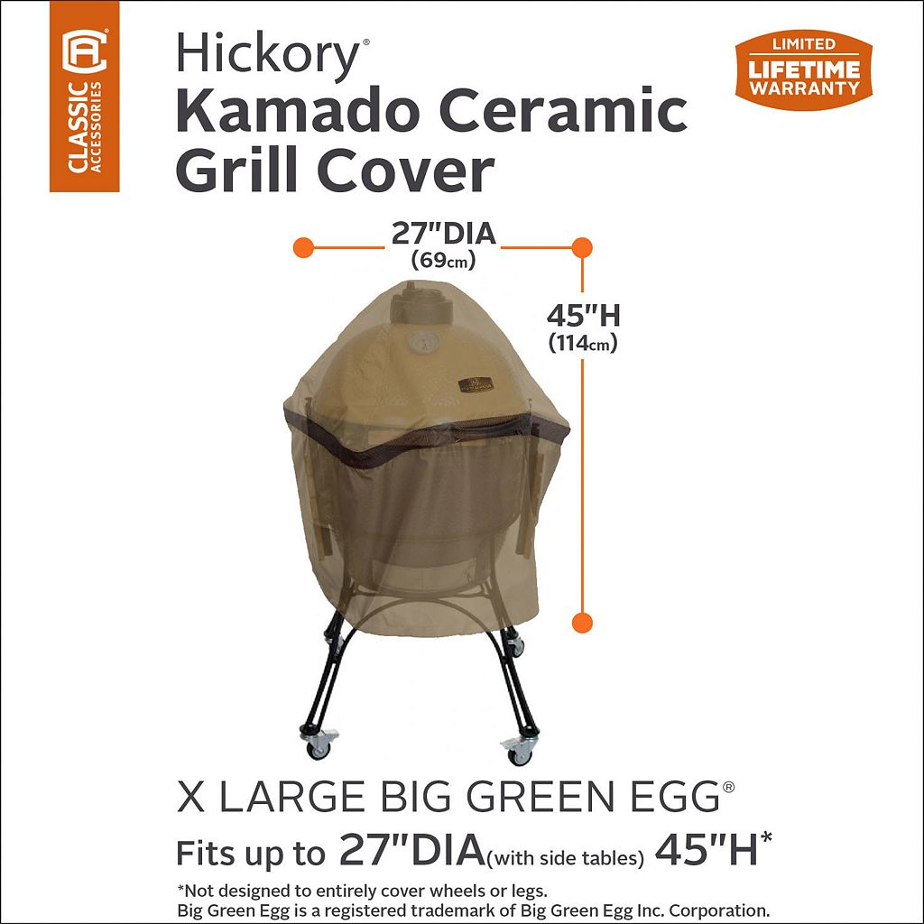 Hickory X-Large Kamado Ceramic Grill Cover