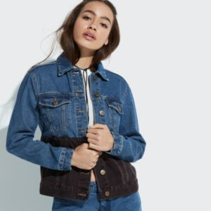 k/lab Two-Tone Denim Jacket!