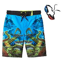 Boys 4-7 ZeroXposur Sea Creature Swim Trunks with 3D Goggles