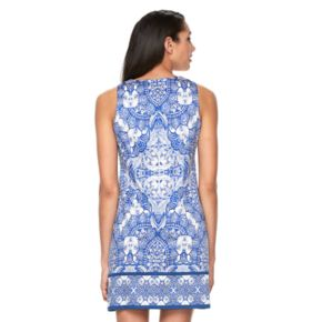 Women's Suite 7 Abstract Medallion Shift Dress