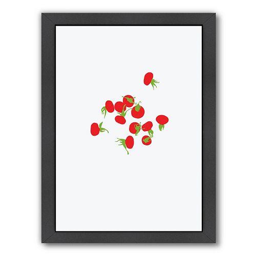 """Americanflat """"Rose Hips"""" Framed Wall Art"""
