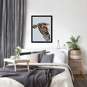 "Americanflat ""Red Shouldered Hawk"" Framed Wall Art"