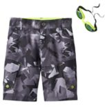 Boys 4-7 ZeroXposur Camo Swim Trunks with Goggles
