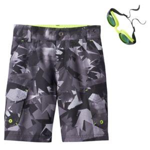 Boys 4-7 ZeroXposur Camo Swim Trunks with Goggles