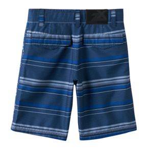 Boys 4-7 ZeroXposur Blue Striped Swim Trunks with Goggles