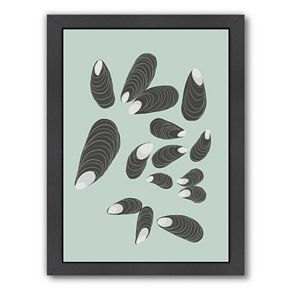 "Americanflat ""Mussels"" Framed Wall Art"