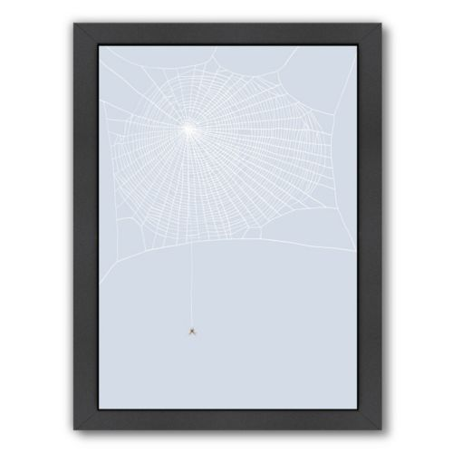 Americanflat Spider and Web Framed Wall Art