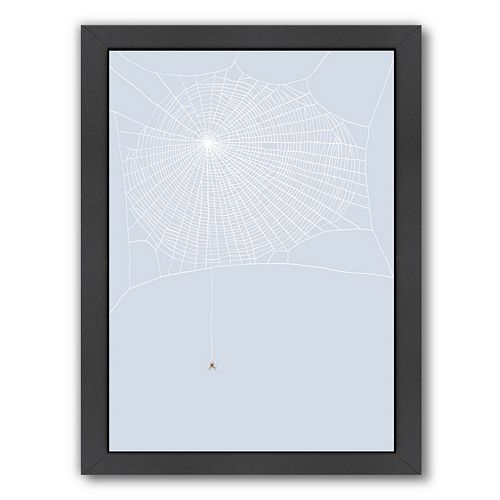 """Americanflat """"Spider and Web"""" Framed Wall Art"""