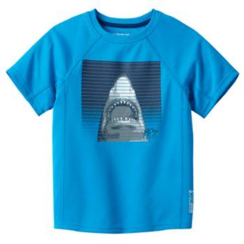 Boys 4-7 ZeroXposur Shark Rash Guard