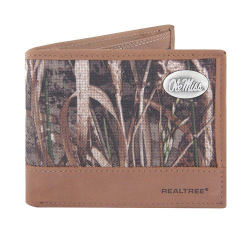 Realtree Ole Miss Rebels Pass Case Wallet