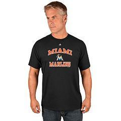 Men's Majestic Miami Marlins Heart & Soul Tee