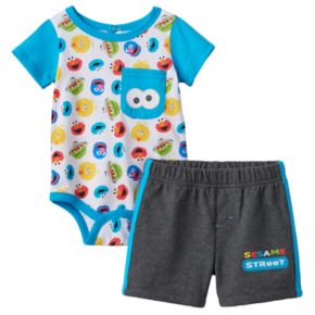Baby Boy Sesame Street Bodysuit & Shorts Set