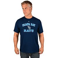 Men's Majestic Tampa Bay Rays Heart & Soul Tee