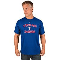 Men's Majestic Texas Rangers Heart & Soul Tee
