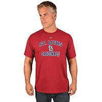 Men's Majestic St. Louis Cardinals Heart & Soul Tee