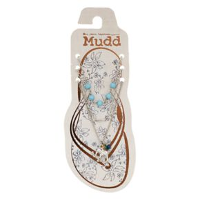 Mudd® Elephant & Beaded Anklet Set